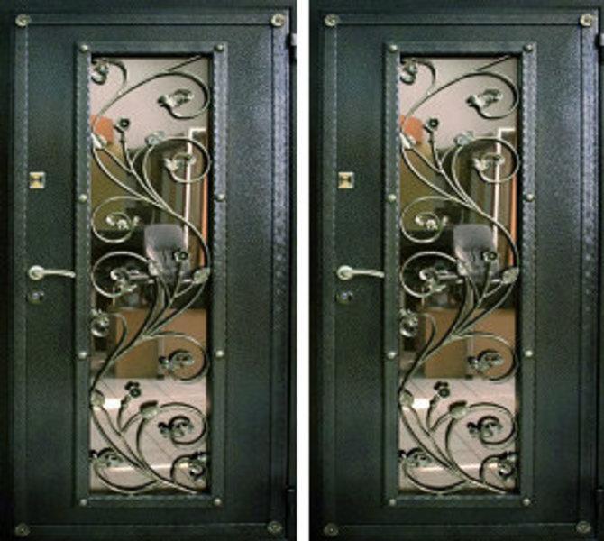 входные ковани двери со стеклопакетами